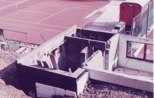 Bau des Clubhaus